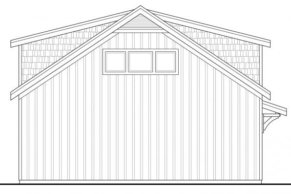 Garage Design 20-141 - Rear Elevation