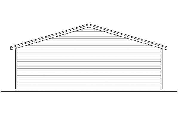 Garage Design 20-190 - Rear Elevation