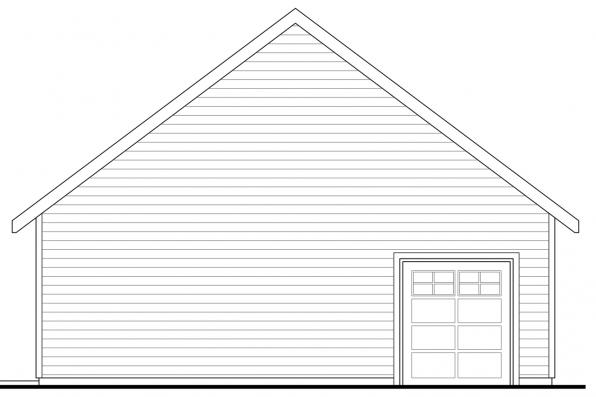 Garage Design - Callahan 30-886 - Rear Elevation