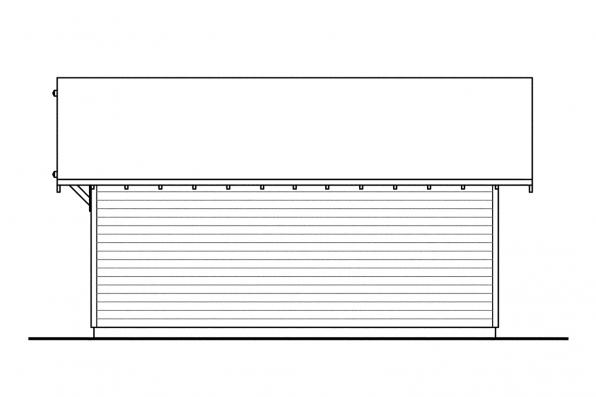 Garage Design 20-010 - Rear Elevation