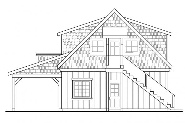Garage Designs 20-020 - Rear Elevation