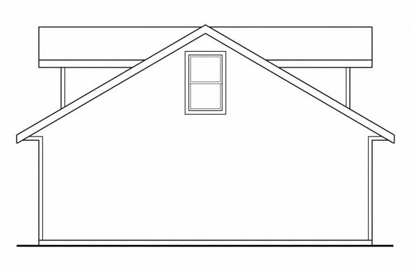 Garage Designs 20-026 - Rear Elevation