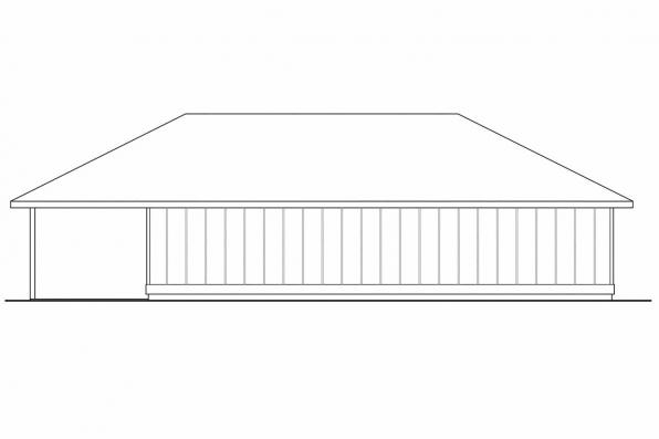 Garage Designs 20-066 - Rear Elevation