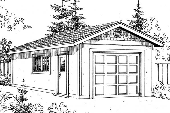 Garage Plan 20-004 - Front Elevation