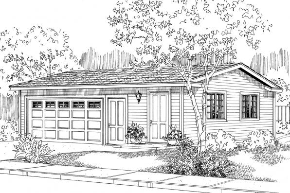Garage Plan 20-014 - Front Elevation