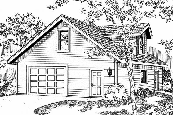 Garage Plan 20-026 - Front Elevation