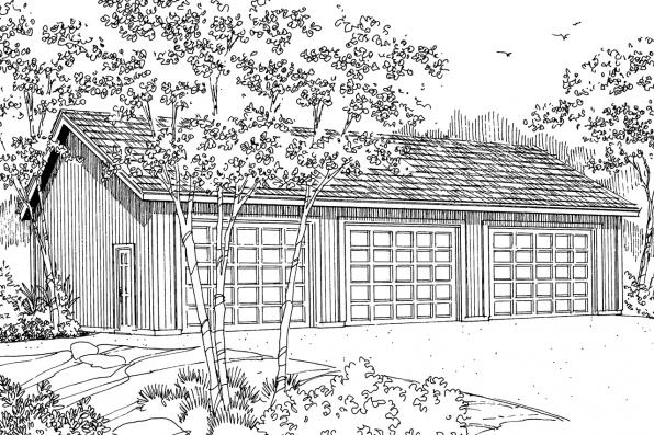 Garage Plan 20-051 - Front Elevation