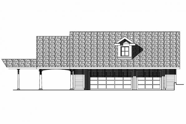 Garage Plan 20-074 - Front Elevation