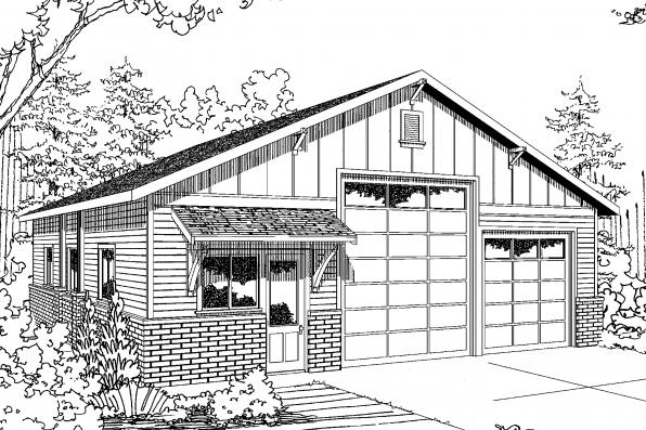 Garage Plan 20-131 - Front Elevation