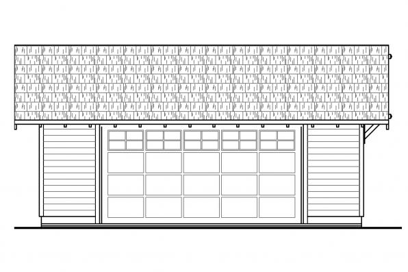 Garage Plan 20-140 - Front Elevation