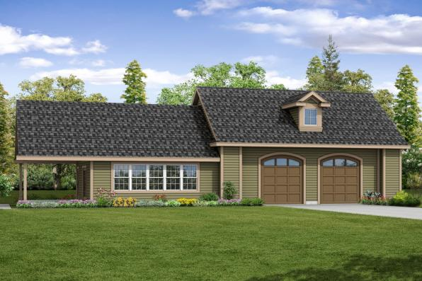Garage Plan 20-166 - Front Elevation