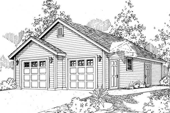 Garage Plan - Callahan 30-886 - Front Elevation