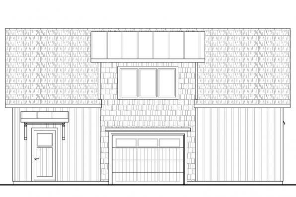 Garage Plan with Apartment 20-141 - Left Elevation