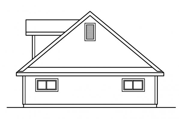 Garage Plan With Attic 20-015 - Right Elevation