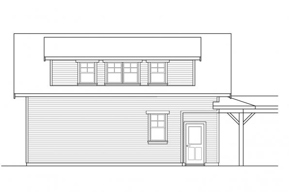 Garage Plan with Living 20-221 - Right Elevation
