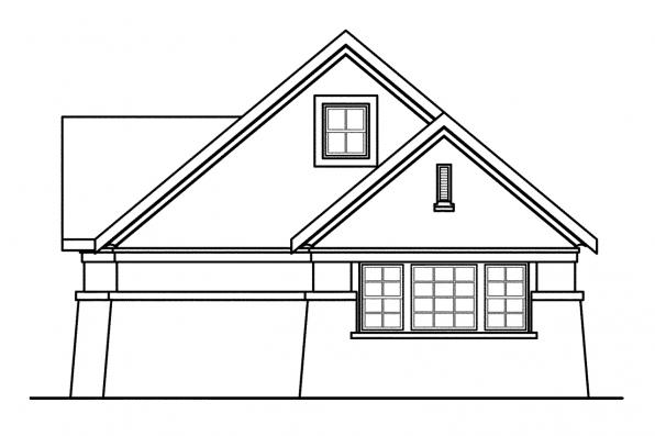 Garage Plan With Storage 20-019 - Right Elevation