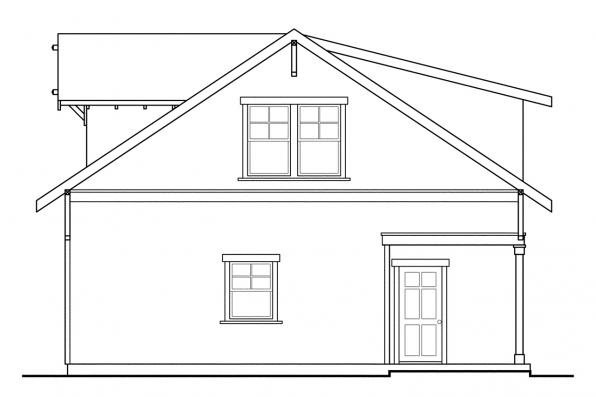 Garage Plan With Studio 20-007 - Right Elevation