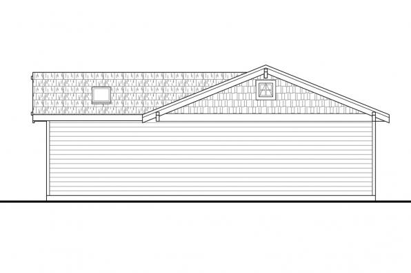 Garage with Shop 20-068 Right Elevation