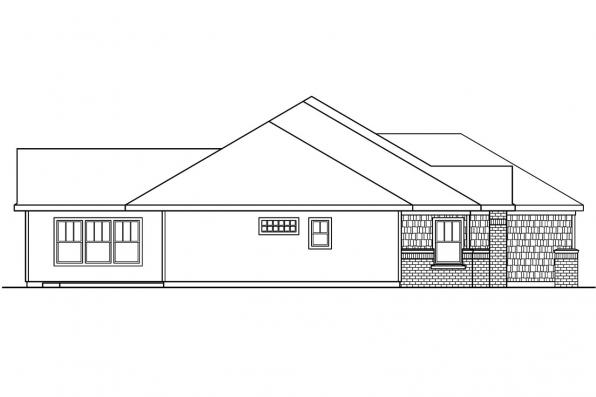 Georgian House Plan - Beaufort 30-630 - Left Elevation