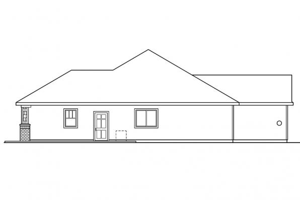 Georgian House Plan - Beaufort 30-630 - Right Elevation