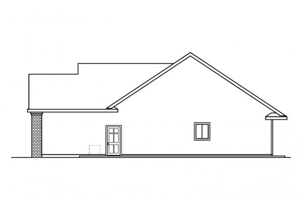 Georgian House Plan - Glenbarr 30-457 - Right Elevation