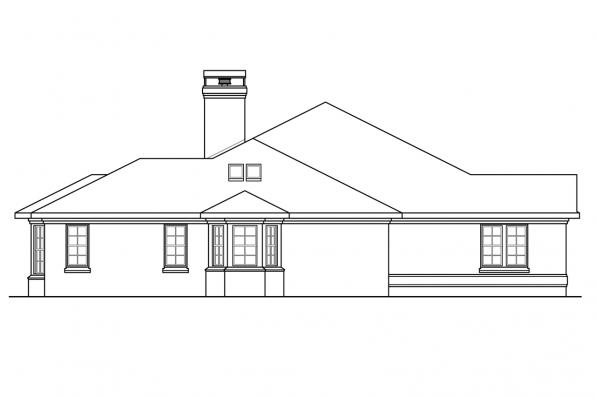 Georgian House Plan - Huntsville 30-463 - Left Elevation
