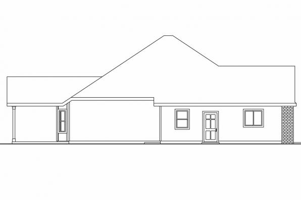 Georgian House Plan - Porterville 30-695 - Left Elevation