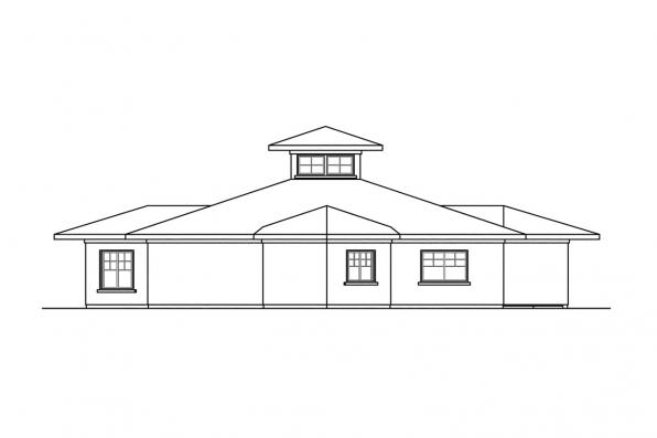 Green House Plan - Flora Vista 10-546 - Rear Elevation