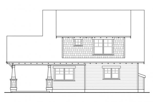 Green House Plan - Greenwood 70-001 - Rear Elevation