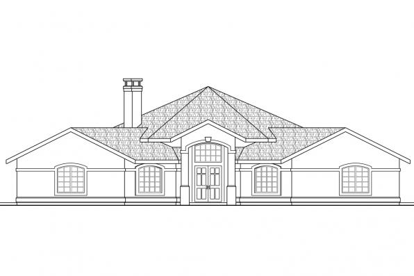 Hexagonal House Plan - Santa Ana 11-148 - Front Elevation