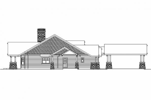 Craftsman house plans arborgate 30 654 associated designs for Building a detached garage on a slope