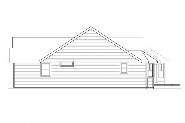 House Plan with Detached Garage - Callahan 30-886 - Right Elevation