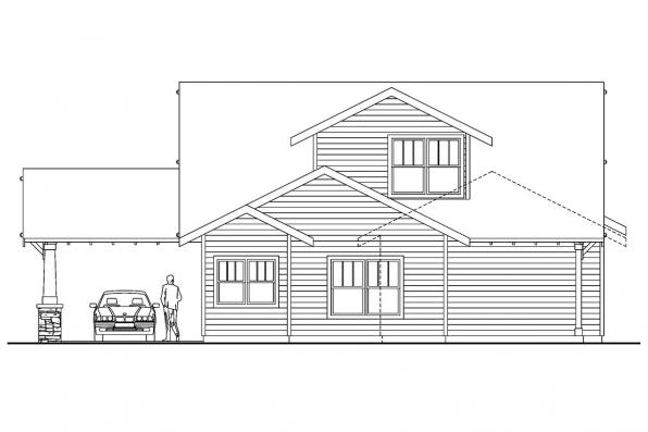 House Plan with Detached Garage - Markham 30-575 - Rear Elevation