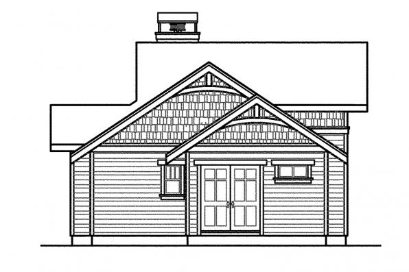 Lodge Style House Plan - Woodcliffe 30-715 - Right Elevation