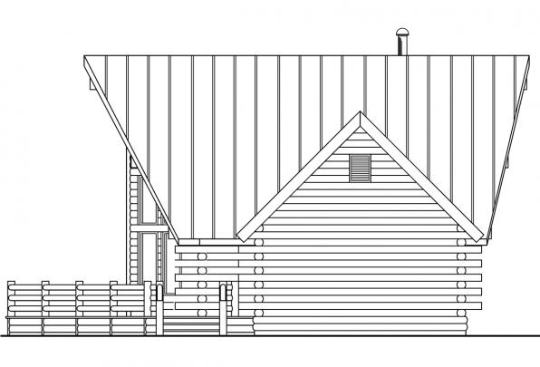 Log House Plan - Altamont 30-012 - Right Elevation