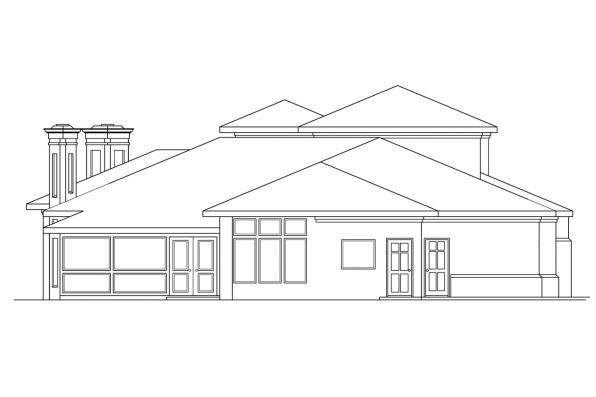 Luxury House Plan - Deveroux 10-354 - Rear Elevation