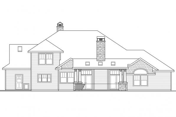 Luxury House Plan - Etheridge 30-716 - Rear Elevation