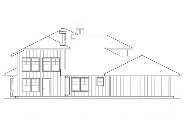 Luxury House Plan - Hazleton 30-304 - Rear Elevation