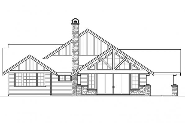 Luxury House Plan - Heartfall 10-620 - Left Elevation