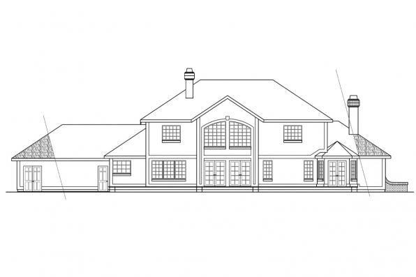 Luxury House Plan - Heritage 10-044 - Rear Elevation