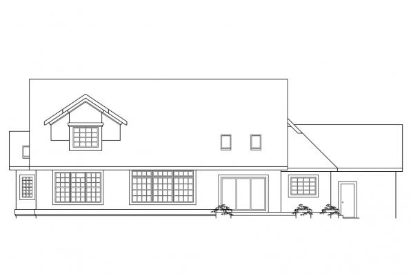 Luxury House Plan - Manchester 10-183 - Rear Elevation