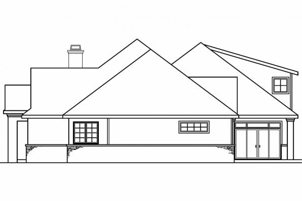 Luxury House Plan - Meridian 30-012 - Right Elevation