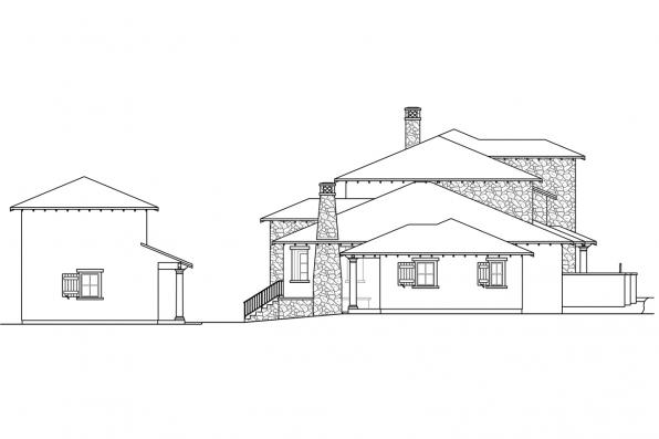 Luxury House Plan - Rossano 30-569 - Left Elevation