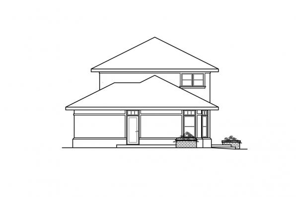 Mediterranean House Plan - Estefan 30-125 - Right Elevation