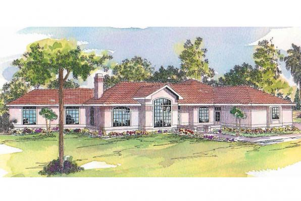 Mediterranean house plans grenada 11 043 associated for Mediterranean elevation