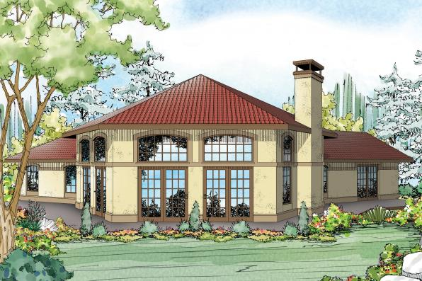 Mediterranean House Plan - Rosabella 11-137 - Rear Elevation