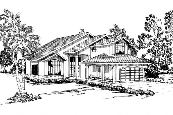 Mediterranean house plans santa clara 50 003 for Mediterranean elevation