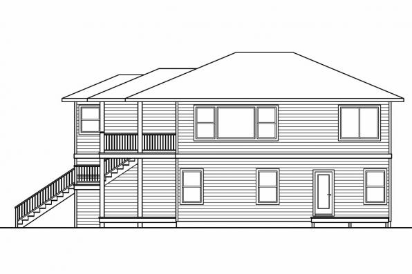 Narrow House Plan - Glenview 30-687 - Right Elevation