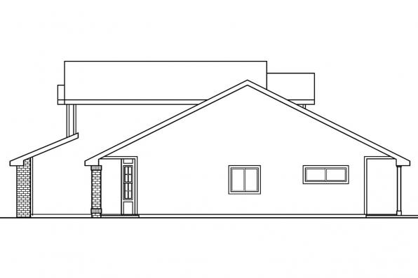 Narrow Lot House Plan - Blanchard 30-550 - Right Elevation