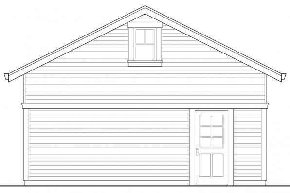 Narrow Lot House Plan - Hanover 30-968 - Garage Front Elevation